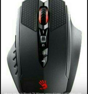 Мышь A4-Tech Bloody T6 Winner черный/серый.