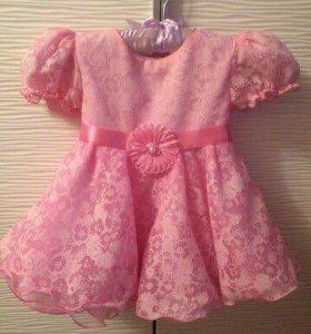 Нарядное платье на девочку (74-80)