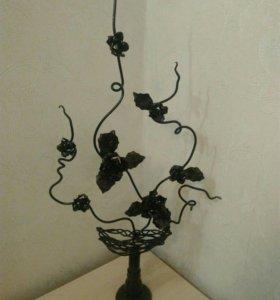 Кованая статуэтка розы