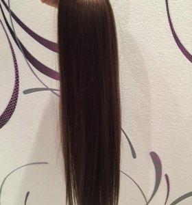 Натуральные волосы на трессе 3 тон