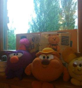 Мягкие игрушки Смешарики.