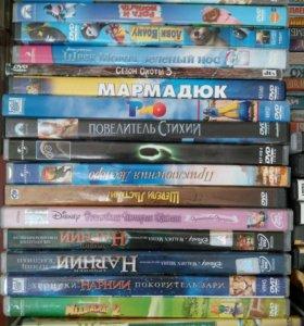 DVD 130шт. с мультфильмами