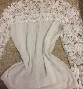 Новая красивая кружевная рубашка кофта