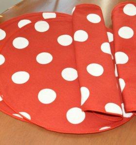 Набор сервировочных салфеток 4 штуки Handmade