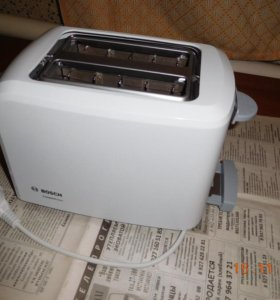 Тостер bosch TAT3A011, белый