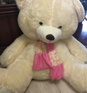 Медведь мягкий большой, девушкам, детям подарок