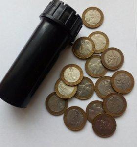 юбилейные монеты 10 рублей 2000-2004 г.