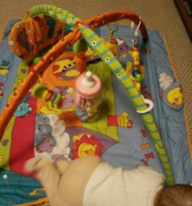 Развивающий коврик для детей от 0 до 18 месяцев
