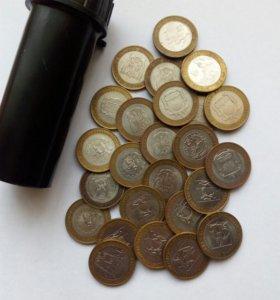 юбилейные монеты 10 рублей 2007г.