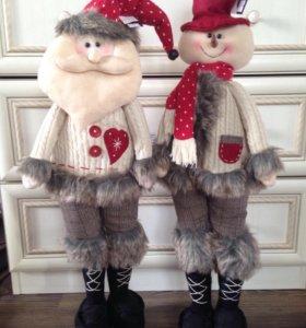"""Санта и Снеговик в стиле """"Кантри"""""""