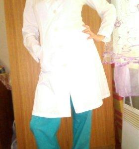 Медицинский халат и штаны