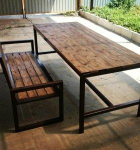 Лавочки и столы для двора