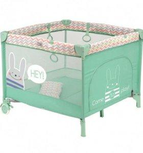 Манеж кровать Happy Baby Alex mint