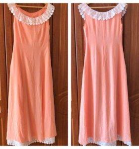 Нежное длинное платье