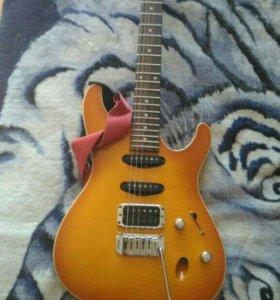 Гитара Ibanez SA 360 FM, педаль Digi Teach, кейс