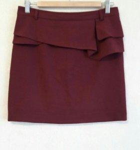 Стильная юбка с баской