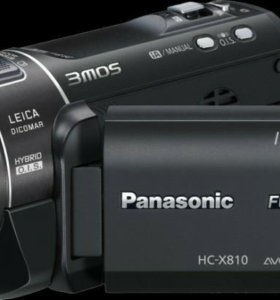 Видеокамера Panasonic full HD HC-X810 (черный)