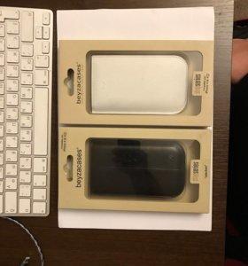 iPhone 4/4s чехол кожаный белый и чёрный Новый