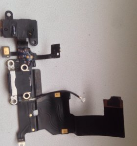 Нижний шлейф зарядки/аудиоразьем/микрофон iphone 5