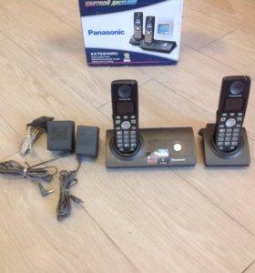 Беспроводной телефон Panasonic(2 трубки).