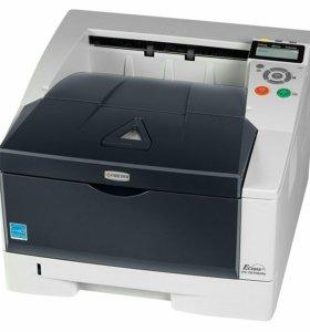 Принтер лазерный б/у + новый картридж kyocera