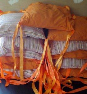 Подушки-бортики на кроватку