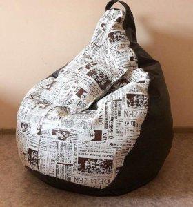 Кресло из мебельной ткани+экокожа