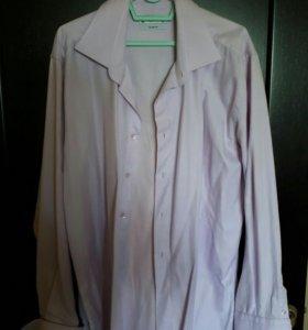 Рубашка под запонки Roberto Bruno розовая