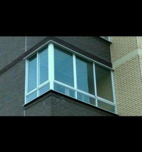 Алюминиевая балконная раздвижка
