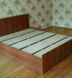 Кровать с матрасом Орех 160 Новая!