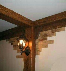 Декоративные балки из дерева