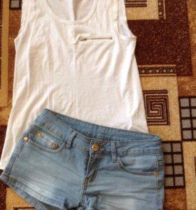 Набор шорты джинсовые и футболка Hause
