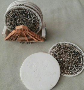 Подставки под стаканы керамические