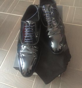 Мужские ботинки лаковые Hugo Boss