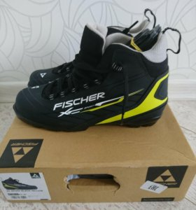 БОТИНКИ ЛЫЖНЫЕ FISCHER XC SPORT BLACK/YELLOW S1351