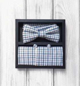 Набор #11 (галстук-бабочка, платок, запонки)