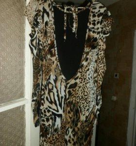 Платье Леопардовое Италия