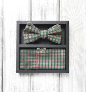 Набор #12 (галстук-бабочка, платок, запонки)