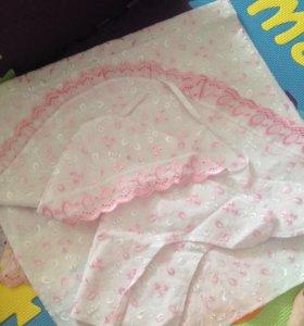 Конверт на выписку, Шапочки, носочки для новорож
