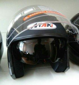 Открытый шлем с очками