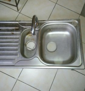 Кухонная Раковина 94*48см + кран(мойка кухонная)