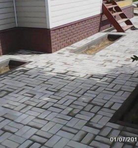 укладка плитки и бетонирование