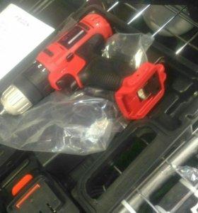 Шуроповерт edon, новый, гарантия, 2 аккумулятора