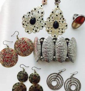 Бижутерия: серьги,кольца,браслеты