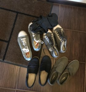 5 пар мужской обуви (41 размер)