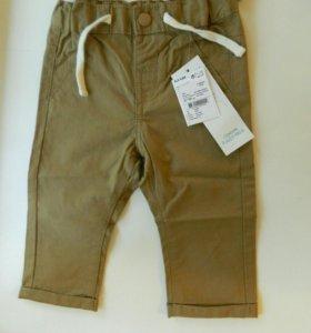 Новые штаны, брюки kiabi 73-76 р.