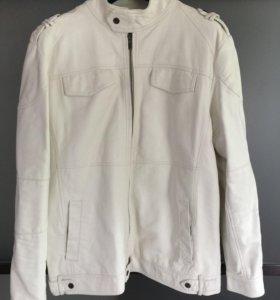 Новая мужская куртка из экокожи XL белая