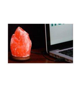 """Соляная лампа """"Скала"""" USB 0,5 кг"""
