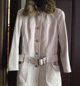 Драповое пальто б/у