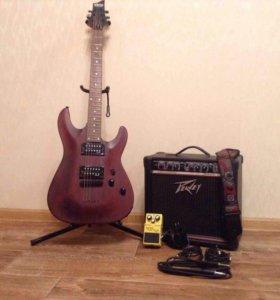 Комплект из гитары и комбоусилителя